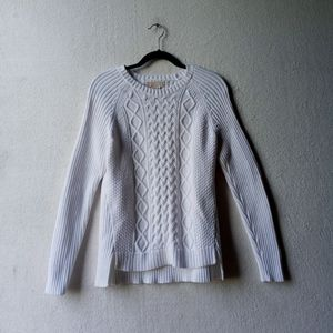 Michael Kors White Cable Knit Sweater Long Sleeve